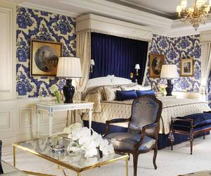 bedroom, blue, and four seasons image