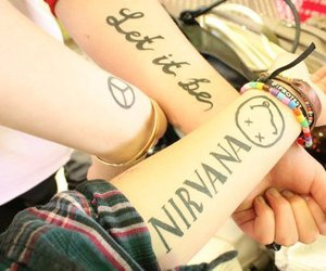 tattoo, nirvana, and let it be image