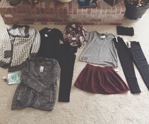 clothes, leggings, and sweaters image