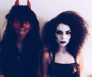 demon, gothic, and make-up image