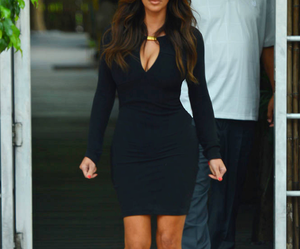 black, kardashian, and dress image