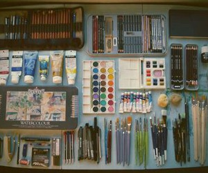 art, colours, and pencils image