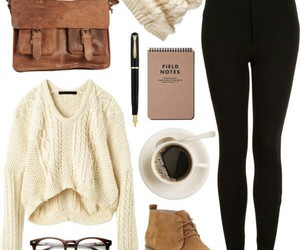 clothes, coffee, and fall image