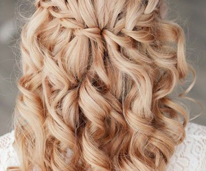 beautiful, hair, and curl image