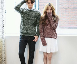kfashion, kcouple, and korean couple image