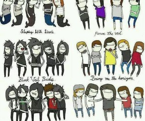 bring me the horizon, falling in reverse, and sleeping with sirens image