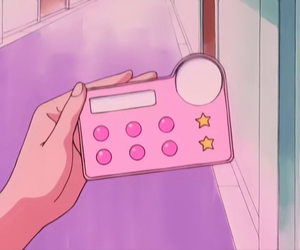 anime, pink, and purple image