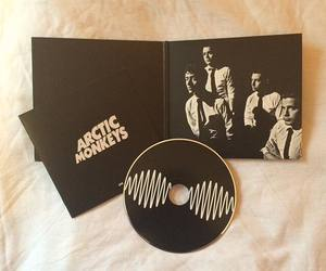 arctic monkeys, black and white, and music image