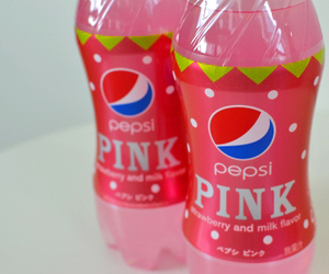 pink, drink, and Pepsi image