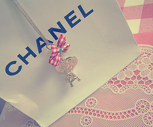 chanel, pink, and bow image