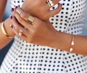 accessories, rings, and dress image