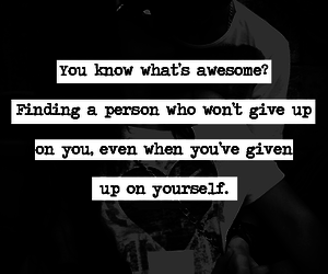 quote, awesome, and person image