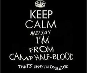 percy jackson, keep calm, and camp half-blood image