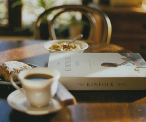 alone, books, and coffee image