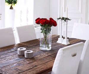 flowers, interior, and roses image