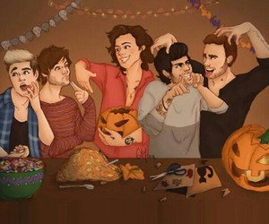 one direction, Halloween, and liam payne image