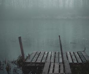 dark, grunge, and lake image