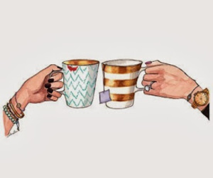 tea, coffee, and friends image