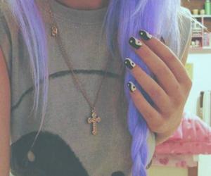 hair, nails, and pink image