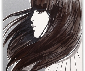 girl, illustration, and hair image