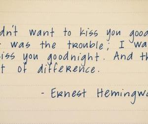 quote, goodbye, and kiss image