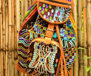 aztec, backpack, and bag image