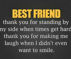best friend, friendship, and smile image