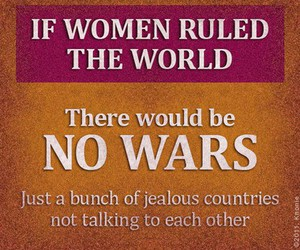 woman, funny, and war image