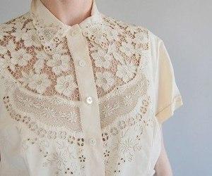 fashion, white, and blouse image