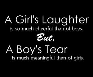 boy, girl, and tear image