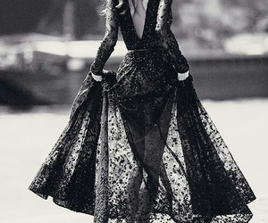 dress, fashion, and black image