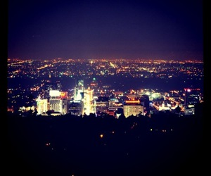 city lights, hollywood, and la image