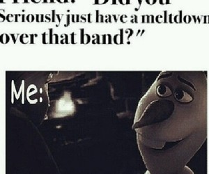 bands, funny, and olaf image