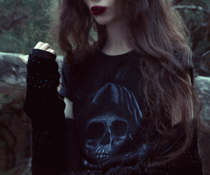 dark, grunge, and skull image