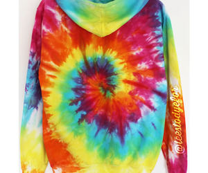 beach, sweater, and tie dye image