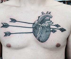 tattoo, heart, and arrow image