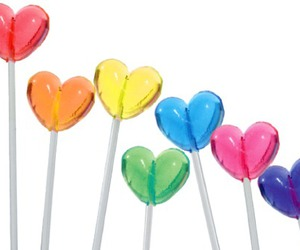 lollipop, candy, and heart image