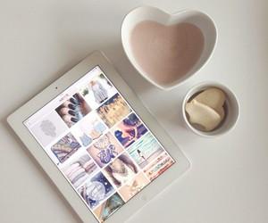 ipad, heart, and coffee image