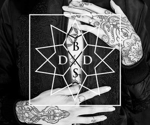 drop dead, girl, and tattoo image