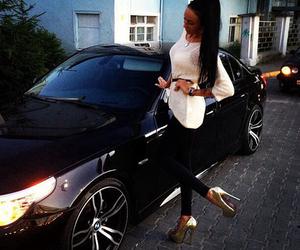 car, luxury, and heels image