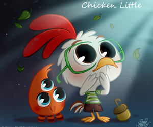 disney, chicken little, and chibi image