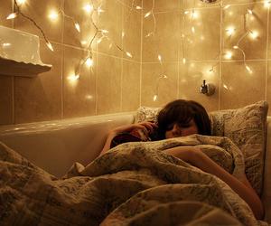 girl, light, and sleep image