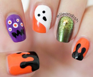 Halloween and nail art designs image