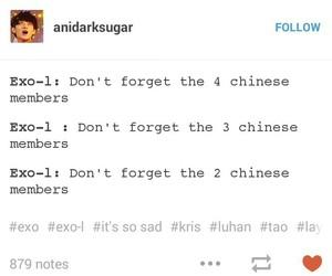 exo, sad, and tumblr image