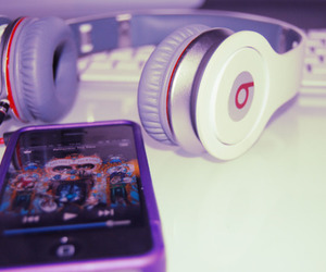 music, purple, and iphone image