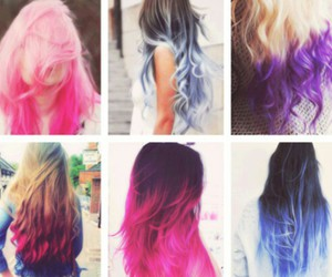 different colors, hair dye, and ombre hair colors image