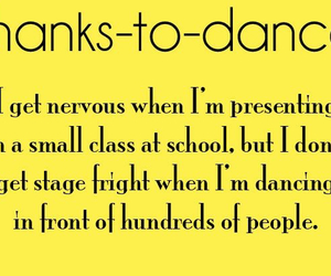 dance and thanks to dance image