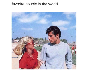couple, grease, and danny image