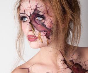 art, cracked, and creepy image