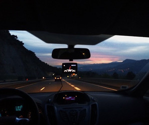 car, travel, and sky image